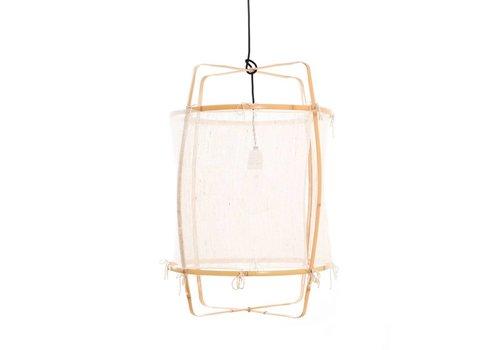 Ay illuminate Hanglamp Z22 Blond zijde wit kasjmier