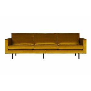 BePureHome Sofa 3-seater Rodeo velvet ocher yellow