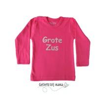 Wooden Buttons Shirt Grote Zus Roze