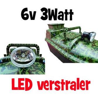 LED verstraler voor op de voerboot (6v - 3W)