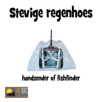 Stevige regenhoes vd handzender of Fishfinder