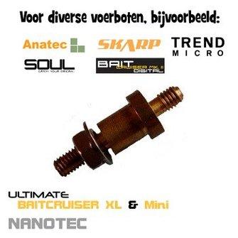 Antennevoet (aansluiting voerboot antenne) Voor diverse analoge voerboten