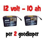 2x Accu voor de Baitcruiser MKII digital - 12v 10ah (Combivoordeel)