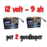 2x Accu voor de Baitcruiser MKII digital - 12v 9ah (Combivoordeel)