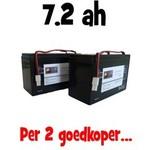 2x Waverunner ATOM MKII/ Ultimate Baitcruiser MINI accu - standaard accu (7.2ah)