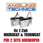 Accu's (2x) voor de Angling Technics Microcat & Technicat (alle modellen)