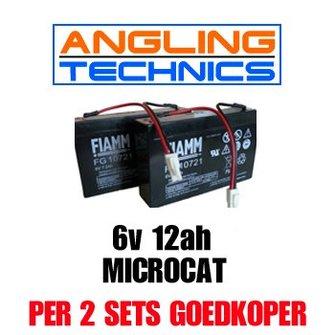 Accu's (2x) voor de Angling Technics Microcat (alle modellen)