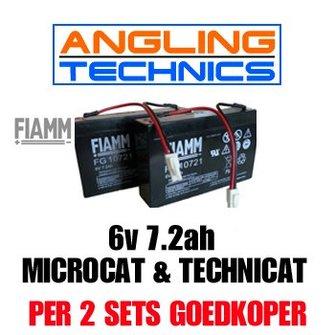 Sterkere FIAMM accu's (2x) voor de Angling Technics Microcat & Technicat (alle modellen)