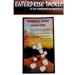 Enterprise Tackle Zinkende maïs korrels WIT (10 stuks - 3 verschillende afmetingen)
