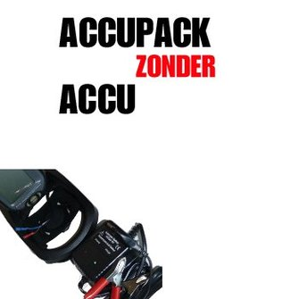 Accupack zonder accu (12v) vd Humminbird RF15 Fishfinder (Fishfun)