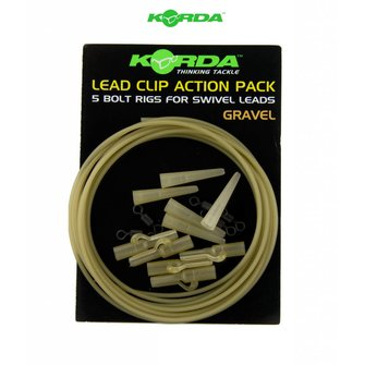 Korda Lead Clip Action Pack (gravel)