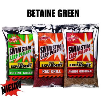 Dynamite Baits Swim Stim Pro Expanders (4mm / 6mm) - Betaine Green