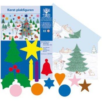 Plakfiguren Kerst set met decoratie vel
