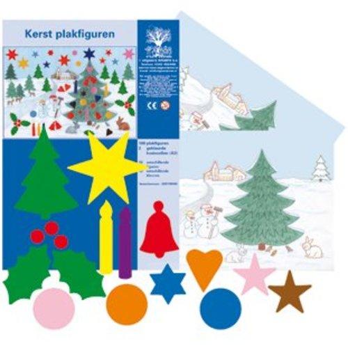 Plakfiguren Kerst set