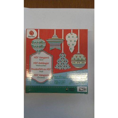 Kersthangers van MDF (rode box)