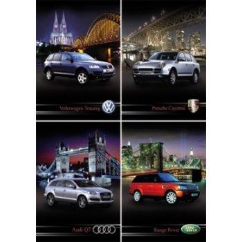 Serie 11097 reuzewenskaarten met 4 spetterende autoafbeeldingen