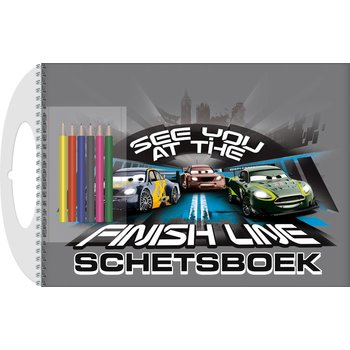 Cars Schetsboek Cars met sjabloon en kleurpotloden