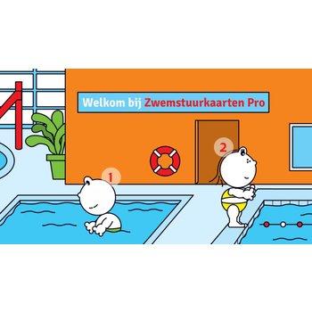 Digitale zwemstuurkaarten voor gebruik door professionals (beschikbaar in de app store)