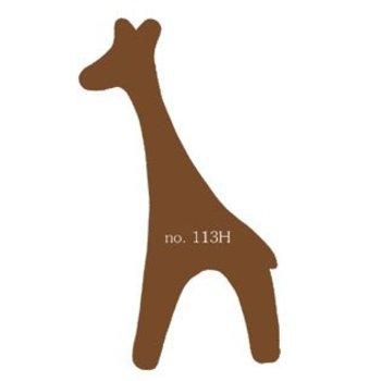Plakfiguur giraf in verschillende kleuren