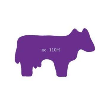 Koe als plakfiguur in verschillende kleuren