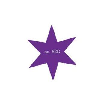 Grote ster als plakfiguur in verschillende kleuren