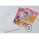 Disney Uitnodigingskaartjes Mickey