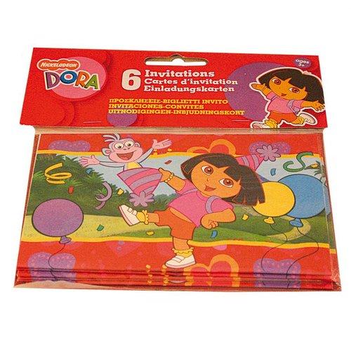 Dora Uitnodigingskaartjes Dora