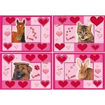 Reuzewenskaart Love Animals