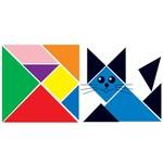 Plakfiguren tangram