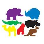 Plakfiguren dierentuin