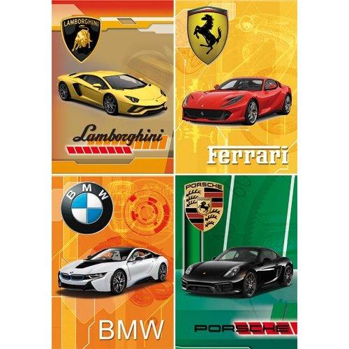 Reuzewenskaart serie 11074 - auto's