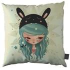 "Candybird - Blue Bunny Pillow 18"" - 45cm"