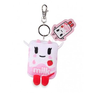 "Tokidoki 4"" Strawberry Milk Moofia Plush Keychain"