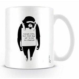 Banksy Laugh Now Mug