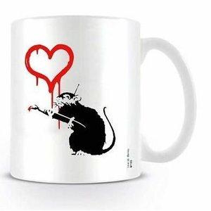 Banksy Love Rat Mug