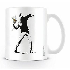 Banksy Flower Thrower Mug