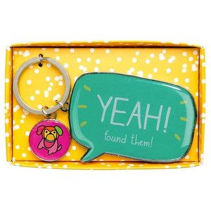 Happy Jackson Yeah Found Them Keychain Giftbox