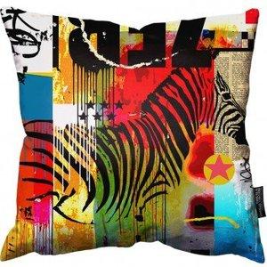 """Mark Andrew Allen - Zebra Pillow 18"""" - 45cm"""