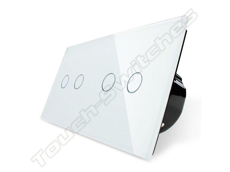 Livolo Design Touch-Schalter | 2-polig + 2-polig | 2 Fach