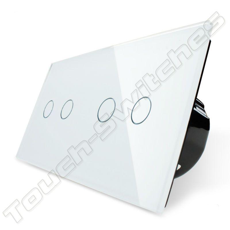 Livolo Design Touch-Schalter | 2-polig + 2-polig | 2 Fach - Touch ...