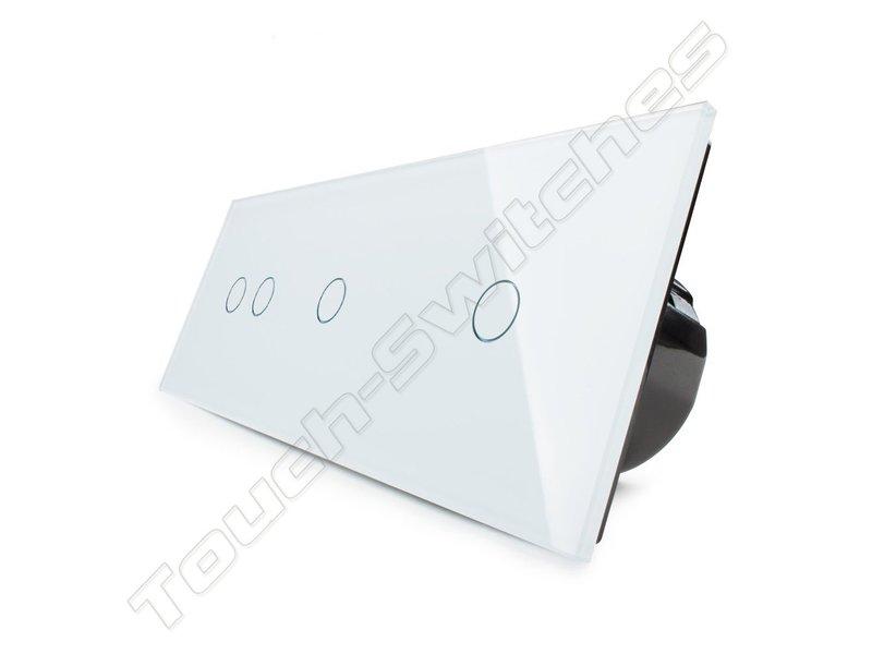 Livolo Design Touch-Schalter | 2-Polig + 2 x 1-Polig | 3 Fach