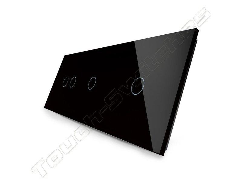 Design Touch-Schalter | 2-Polig + 2 x 1-Polig | 3 Fach