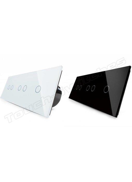 Touch-Schalter | 2 x 2-Polig + 1-Polig