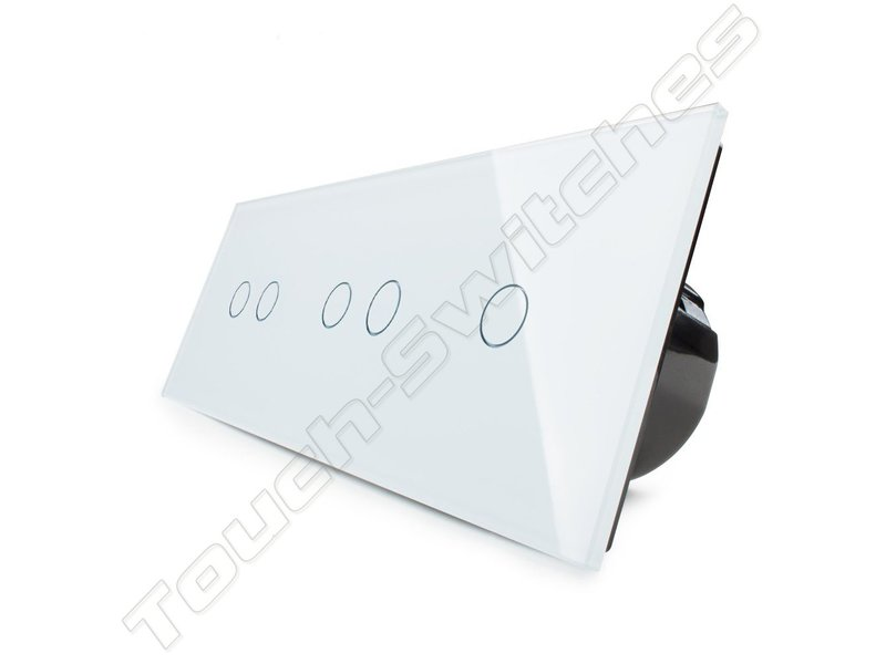 Design Touch-Schalter   2 x 2-Polig + 1-Polig   3 Fach