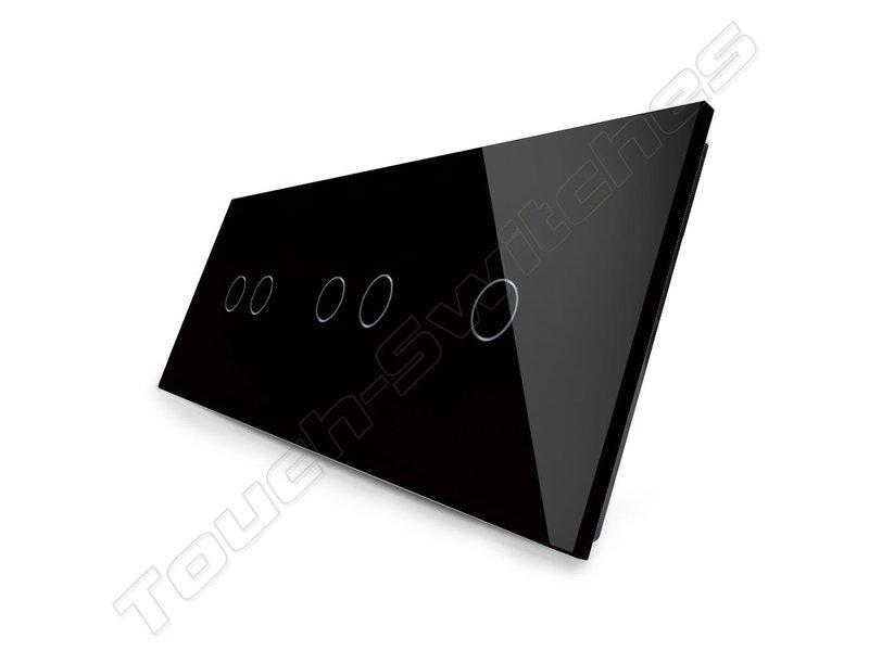 Livolo Design Touch Schakelaar | 2 x Serie + Enkelpolig | 3 Raams