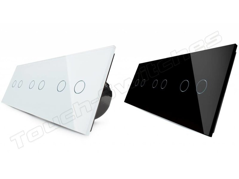 Livolo Design Touch-Schalter | 3 x 2-Polig | 3 Fach - Touch-Switches.com