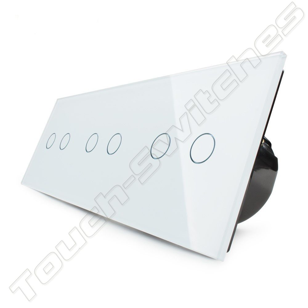 Livolo Design Touch-Schalter | 3 x 2-Polig | 3 Fach - Touch-Switches.com