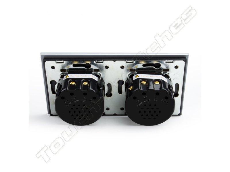 Livolo Design Touch Dimmer | 1-Gang + EU Socket | 2 Hole
