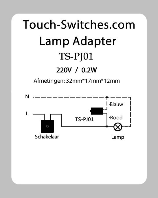 wiring diagram for touch lamp – comvt, Wiring diagram