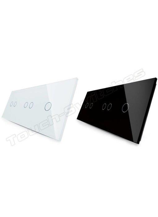Glasplatte | 2 x 2-Polig + 1-Polig